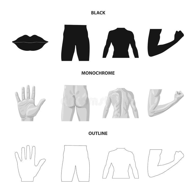 Vectorillustratie van mens en deelteken Inzameling van mens en vrouwenvoorraadsymbool voor Web stock illustratie