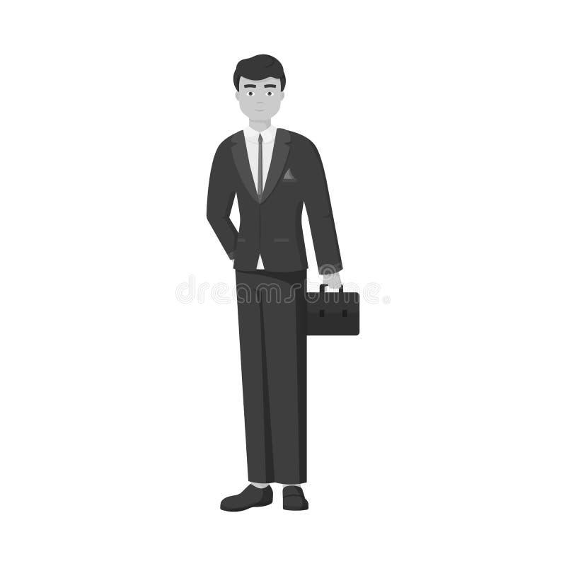 Vectorillustratie van mensen en bedrijfspictogram Reeks van mens en businessperson voorraad vectorillustratie vector illustratie