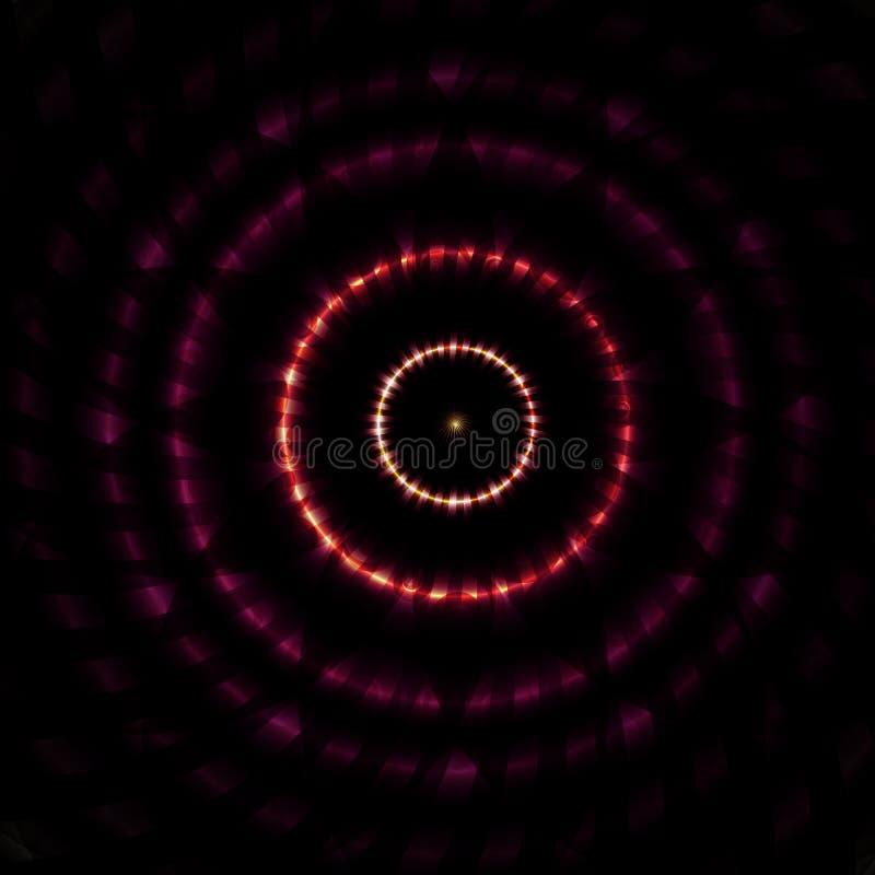 Vectorillustratie van Mooie Abstracte Hypnotic Achtergrond stock illustratie
