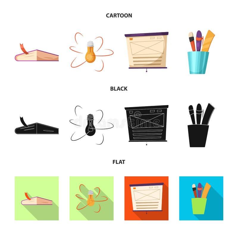Vectorillustratie van onderwijs en het leren symbool Inzameling van onderwijs en de vectorillustratie van de schoolvoorraad vector illustratie