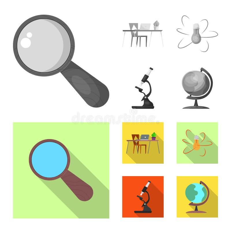 Vectorillustratie van onderwijs en het leren teken Reeks van onderwijs en school vectorpictogram voor voorraad royalty-vrije illustratie