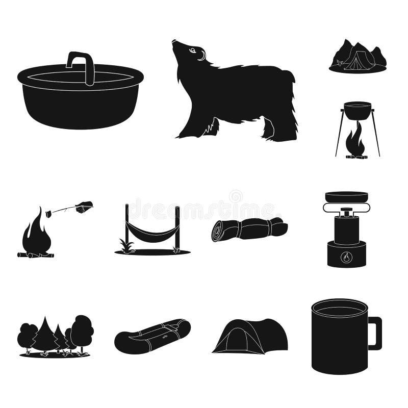 Vectorillustratie van ontspanning en rust pictogram Inzameling van ontspanning en avonturen vectorpictogram voor voorraad vector illustratie