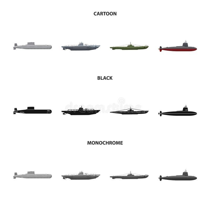Vectorillustratie van oorlog en schipembleem Reeks van oorlog en vloot vectorpictogram voor voorraad royalty-vrije illustratie