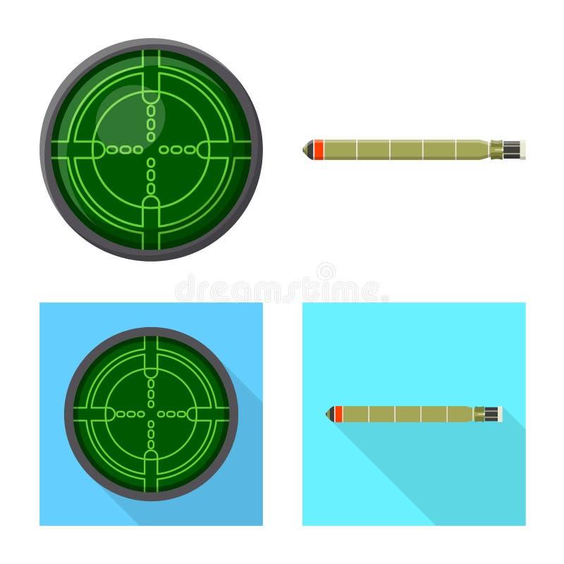 Vectorillustratie van oorlog en schippictogram Reeks van oorlog en het symbool van de vlootvoorraad voor Web royalty-vrije illustratie