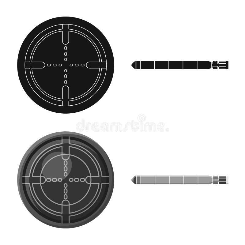 Vectorillustratie van oorlog en schipsymbool Inzameling van oorlog en vloot vectorpictogram voor voorraad vector illustratie