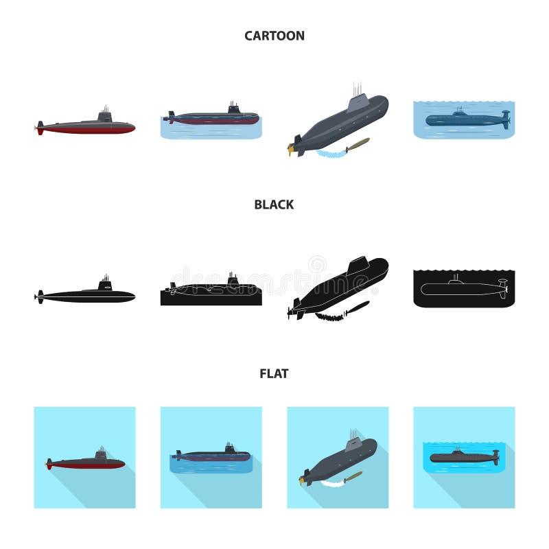 Vectorillustratie van oorlog en schipsymbool Inzameling van oorlog en vloot vectorpictogram voor voorraad stock illustratie