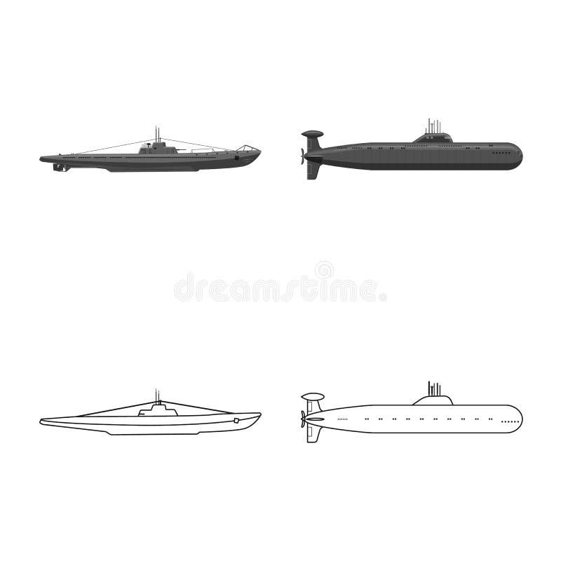 Vectorillustratie van oorlog en schipsymbool Reeks van oorlog en vloot vectorpictogram voor voorraad vector illustratie
