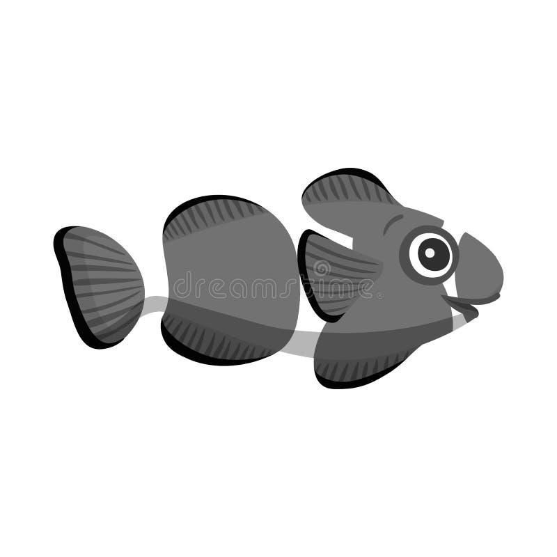 Vectorillustratie van overzees en dierlijk symbool Reeks van overzees en marien vectorpictogram voor voorraad vector illustratie
