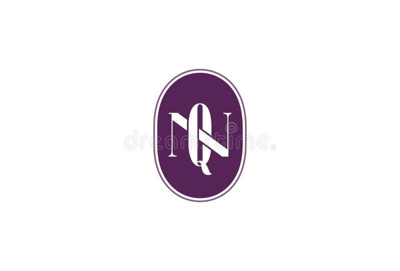 Vectorillustratie van Q N Logo Design stock illustratie