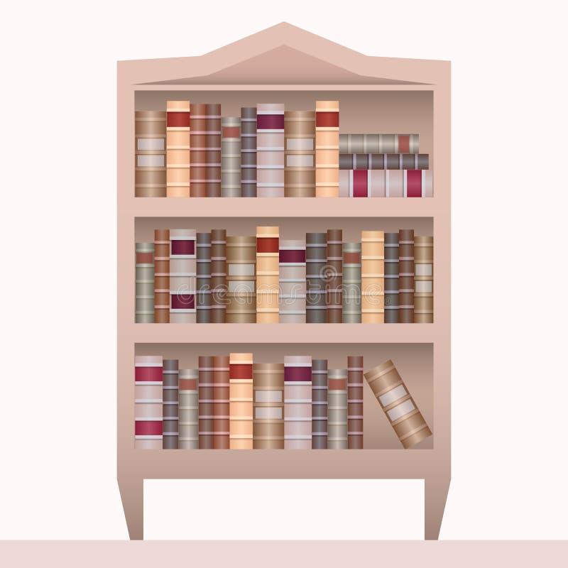 Vectorillustratie van realistisch boekenrek met boeken vector illustratie