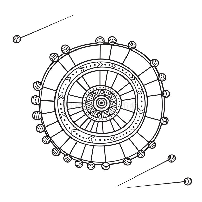Vectorillustratie van reeks van het naaien van naalden in container stock illustratie