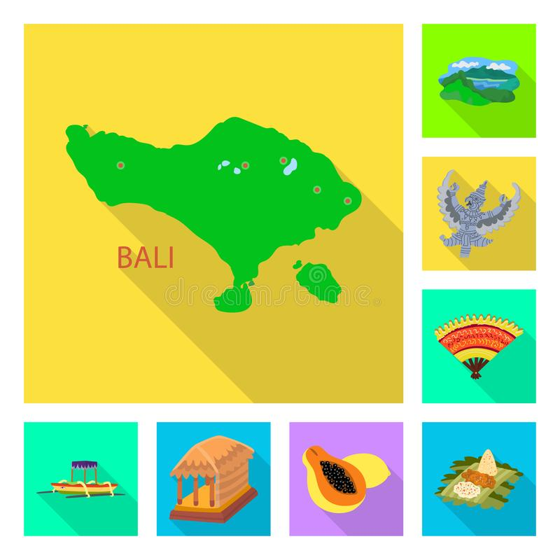 Vectorillustratie van reis en toerismeembleem Inzameling van reis en de vectorillustratie van de eilandvoorraad vector illustratie