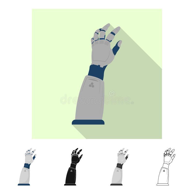 Vectorillustratie van robot en fabrieksembleem Reeks van robot en ruimtevoorraadsymbool voor Web vector illustratie