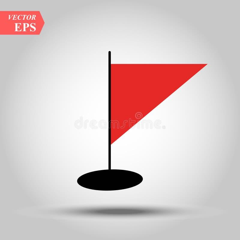 Vectorillustratie van rode driehoekige golvende vlag royalty-vrije illustratie