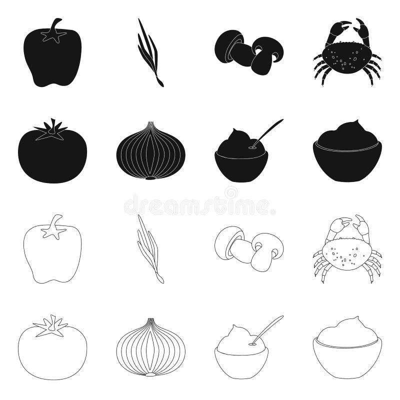 Vectorillustratie van smaak en productpictogram Reeks van smaak en kokende voorraad vectorillustratie vector illustratie