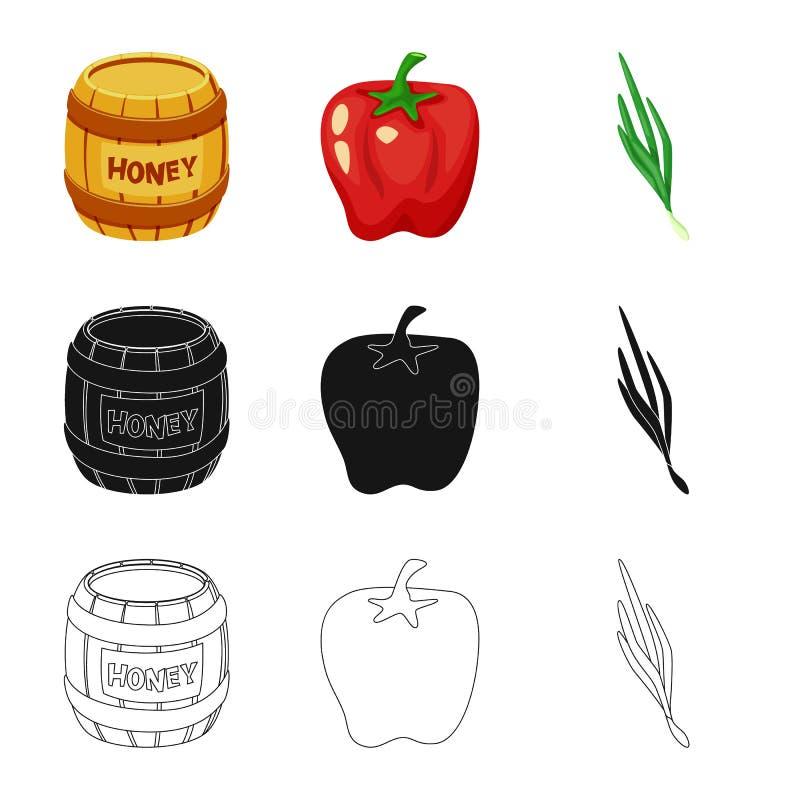 Vectorillustratie van smaak en productteken Reeks van smaak en kokend vectorpictogram voor voorraad stock illustratie
