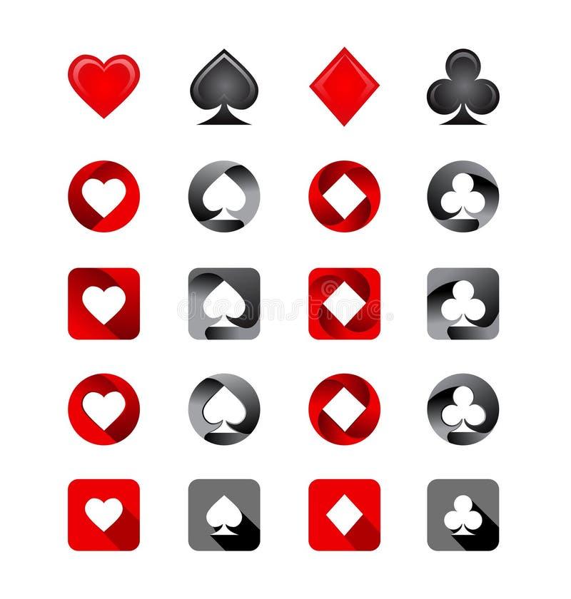 Vectorillustratie van Speelkaartkostuums vector illustratie