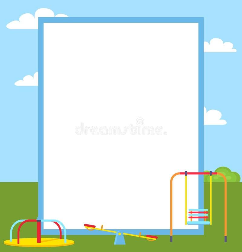 Vectorillustratie van speelplaats de Kleurrijke Affiches royalty-vrije illustratie