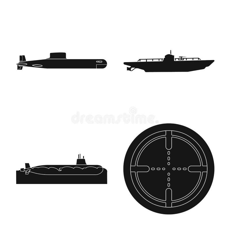 Vectorillustratie van technologie en vlootembleem Reeks van technologie en marinevoorraadsymbool voor Web vector illustratie
