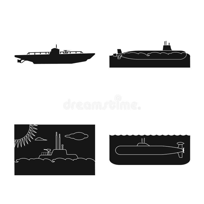 Vectorillustratie van technologie en vlootsymbool Reeks van technologie en marine vectorpictogram voor voorraad vector illustratie