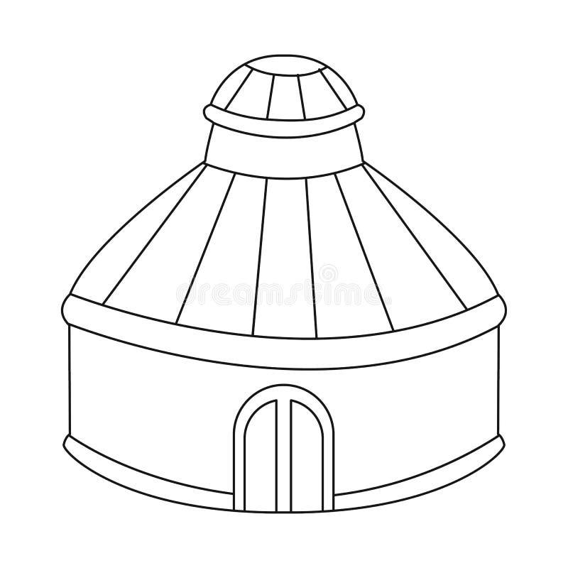 Vectorillustratie van tent en koepelsymbool Reeks van tent en parkvoorraadsymbool voor Web royalty-vrije illustratie