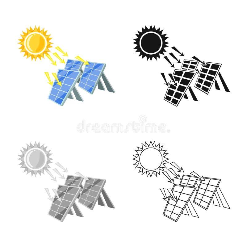 Vectorillustratie van thermisch en postembleem Inzameling van thermisch en machts vectorpictogram voor voorraad stock illustratie
