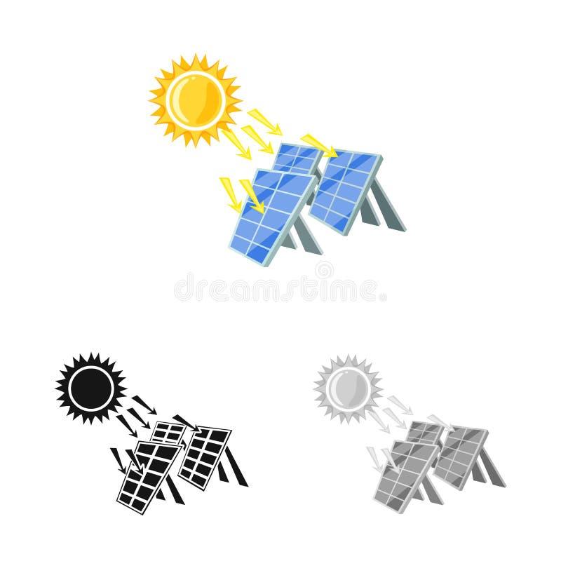 Vectorillustratie van thermisch en postpictogram Inzameling van de vectorillustratie van de thermische en machtsvoorraad stock illustratie