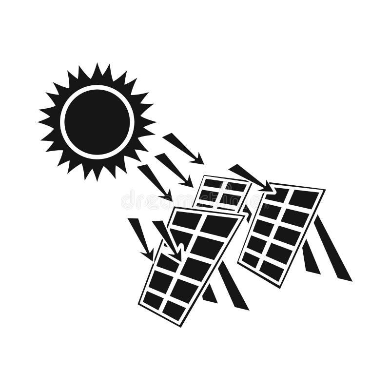 Vectorillustratie van thermisch en postteken Inzameling van de vectorillustratie van de thermische en machtsvoorraad stock illustratie