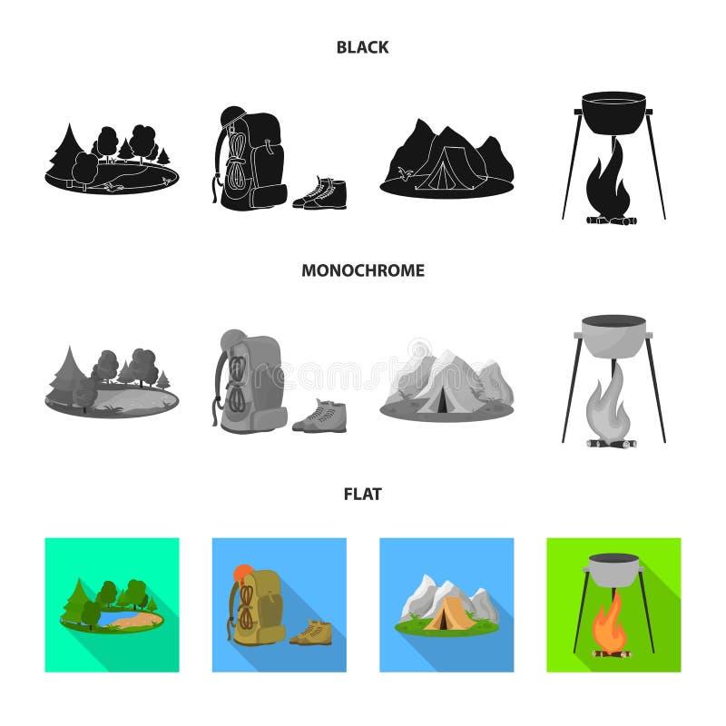 Vectorillustratie van toerisme en excursiesembleem Reeks van toerisme en rust vectorpictogram voor voorraad vector illustratie