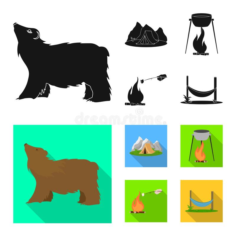 Vectorillustratie van toerisme en excursiesembleem Reeks van toerisme en rust voorraadsymbool voor Web royalty-vrije illustratie