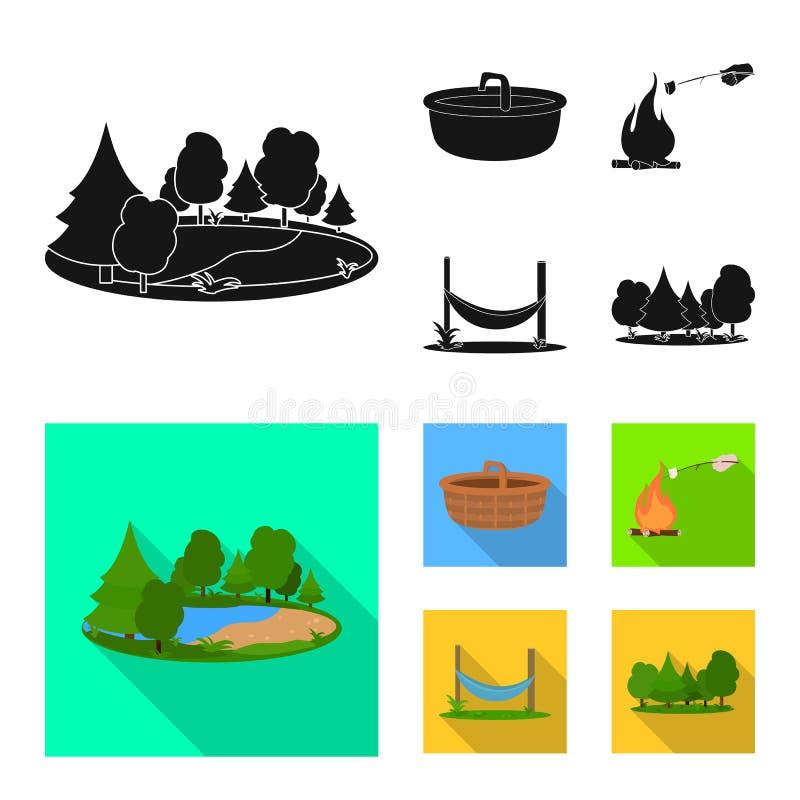 Vectorillustratie van toerisme en excursiespictogram Inzameling van toerisme en rust vectorpictogram voor voorraad stock illustratie
