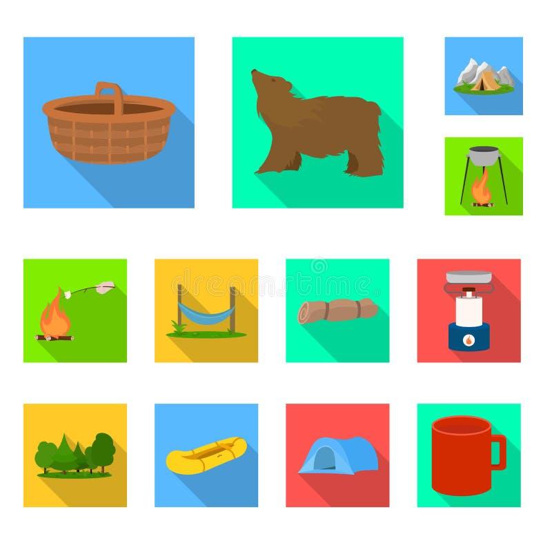 Vectorillustratie van toerisme en excursiessymbool Inzameling van toerisme en rust vectorpictogram voor voorraad vector illustratie