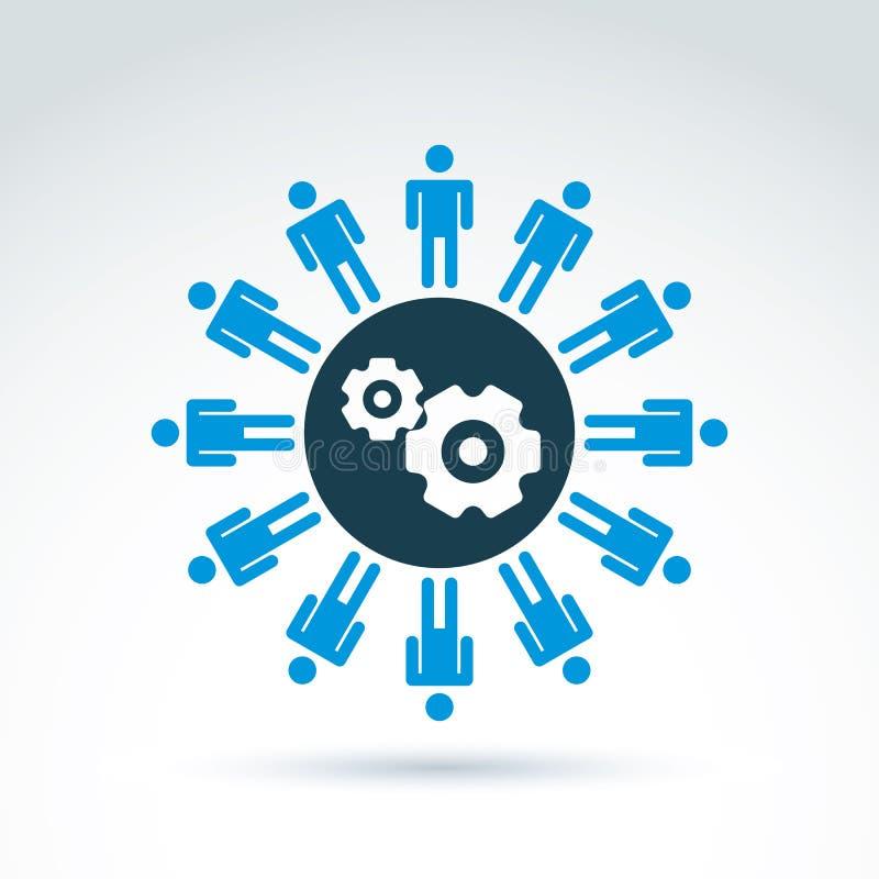 Vectorillustratie van toestellen - het thema van het ondernemingssysteem, organiza vector illustratie