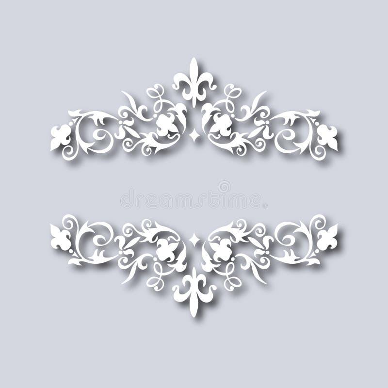 Vectorillustratie van uitstekend bloemenornament royalty-vrije stock afbeelding
