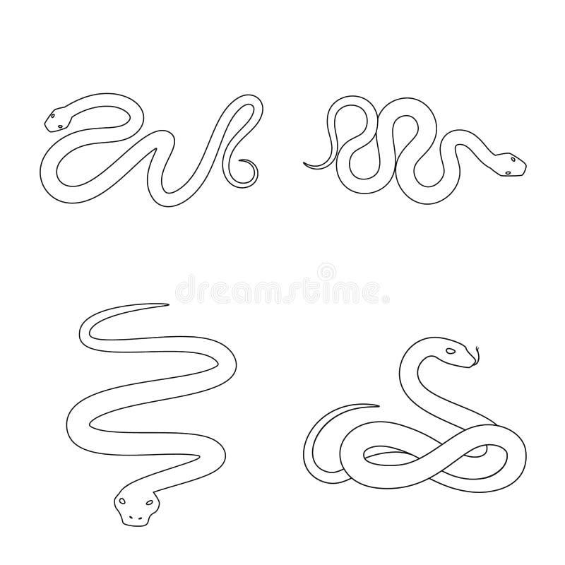 Vectorillustratie van vergift en kwaad pictogram Reeks van vergift en beet vectorpictogram voor voorraad stock illustratie