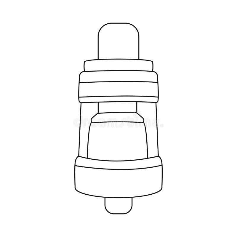 Vectorillustratie van verstuiver en elektronisch teken Reeks van verstuiver en rokend voorraadsymbool voor Web royalty-vrije illustratie