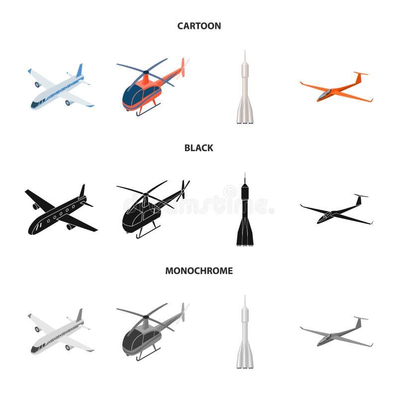 Vectorillustratie van vervoer en objecten embleem Inzameling van vervoer en glijdend voorraadsymbool voor Web royalty-vrije illustratie