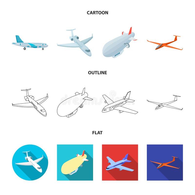 Vectorillustratie van vervoer en objecten embleem Reeks van vervoer en glijdend vectorpictogram voor voorraad vector illustratie