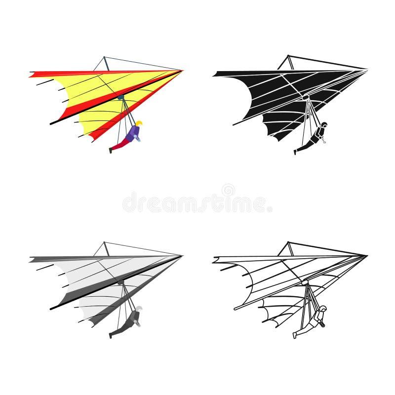 Vectorillustratie van vliegtuig en vervoerpictogram Inzameling van vliegtuig en hemelvoorraadsymbool voor Web stock illustratie