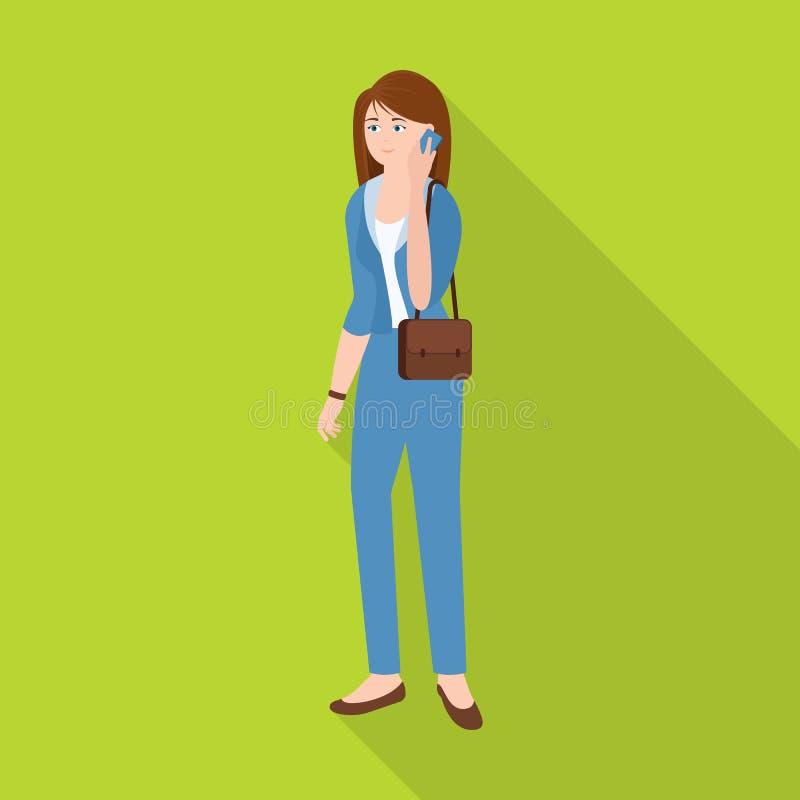 Vectorillustratie van vrouwen en bedrijfssymbool Reeks van vrouw en businessperson vectorpictogram voor voorraad vector illustratie