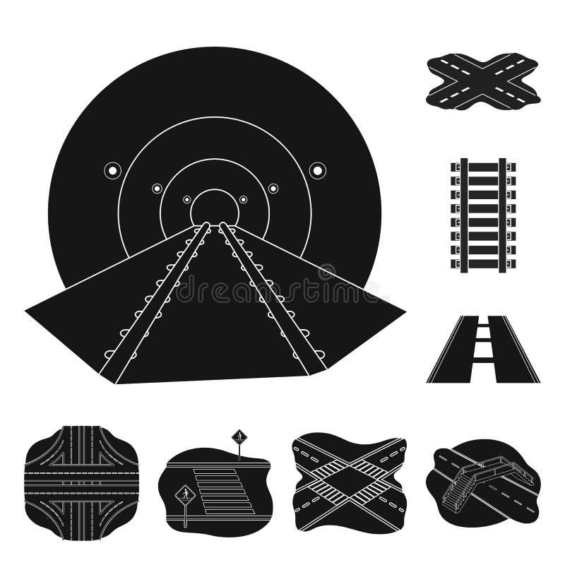 Vectorillustratie van weg en straatpictogram Inzameling van weg en wegvoorraadsymbool voor Web stock illustratie