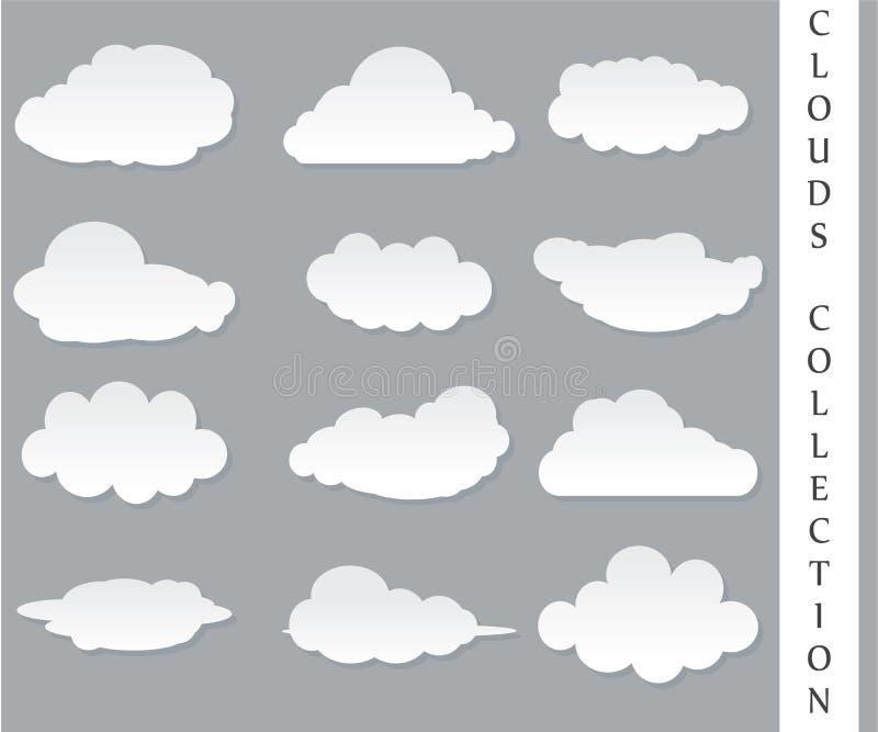 Vectorillustratie van wolkeninzameling stock fotografie