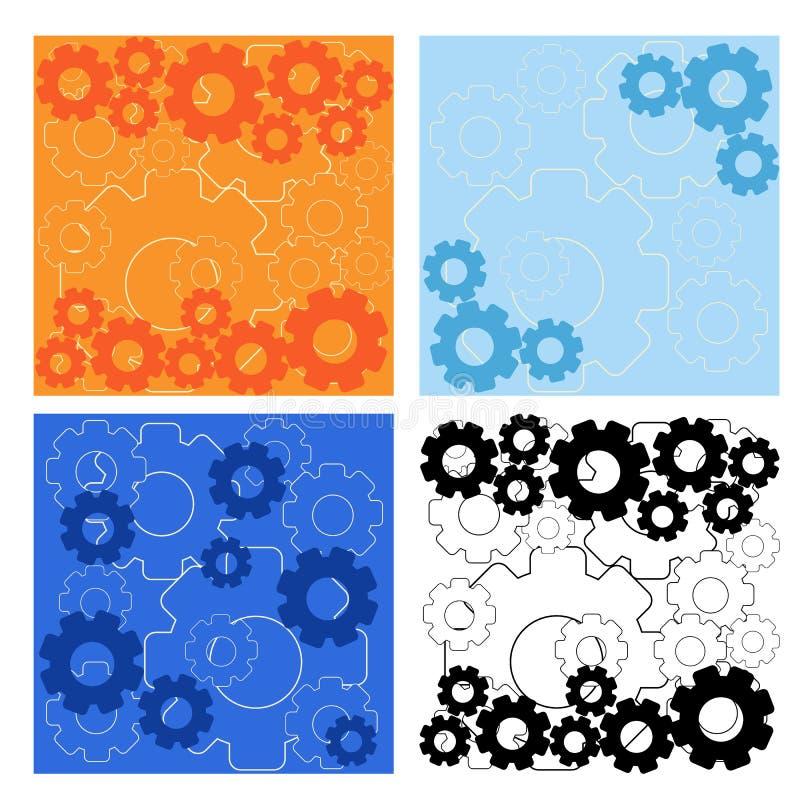 Vectorillustratie vastgestelde achtergrond met toestellen in kleuren vector illustratie