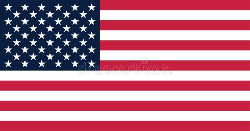 Vectorillustratie voor de Vlag van Verenigde Staten vector illustratie