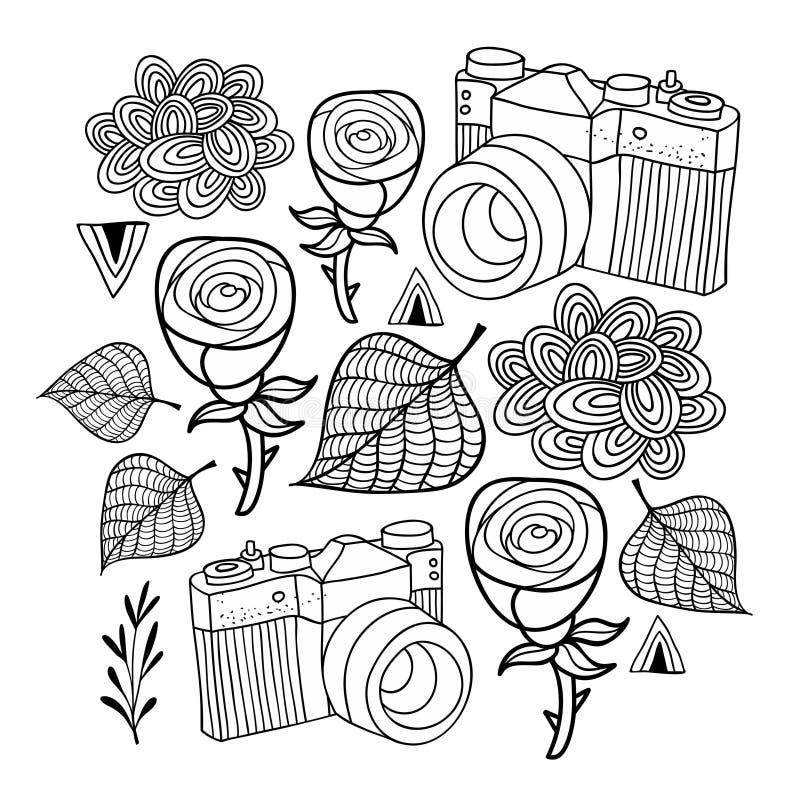 Vectorillustratie voor het kleuren royalty-vrije illustratie