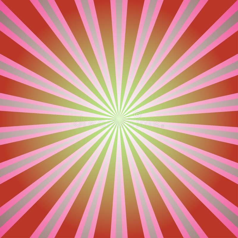 Vectorillustratie voor uw ontwerp Retro Rode en groene achtergrond van de kleurenuitbarsting De vectorillustratie van de fantasie stock illustratie