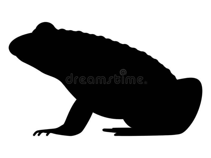 Vectorillustratie zwart silhouet van een kikker vector illustratie