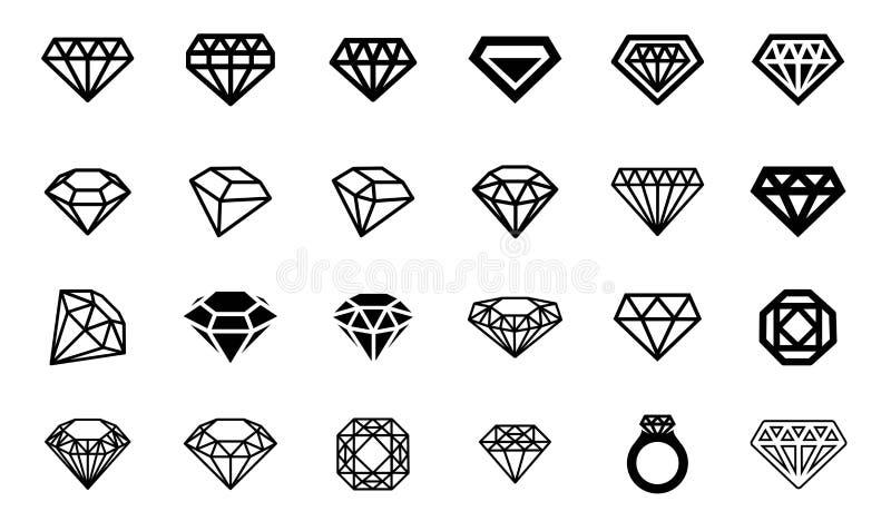 Vectorillustratieconcept diamantembleem Pictogram op witte achtergrond royalty-vrije illustratie