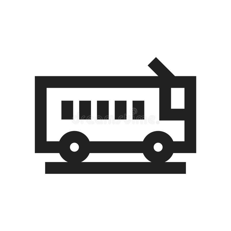 Vectorillustratieconcept het pictogram van het Busvervoer Zwarte op witte achtergrond royalty-vrije illustratie