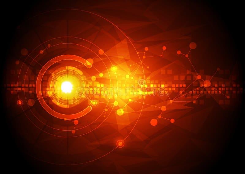Vectorillustratiehi-tech digitaal technologieconcept, abstracte achtergrond vector illustratie